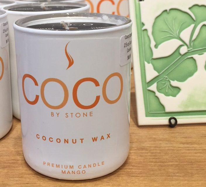 Stone Candles with coconut wax