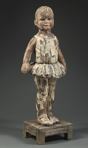 Sculpture of a child wearing a dance outfit