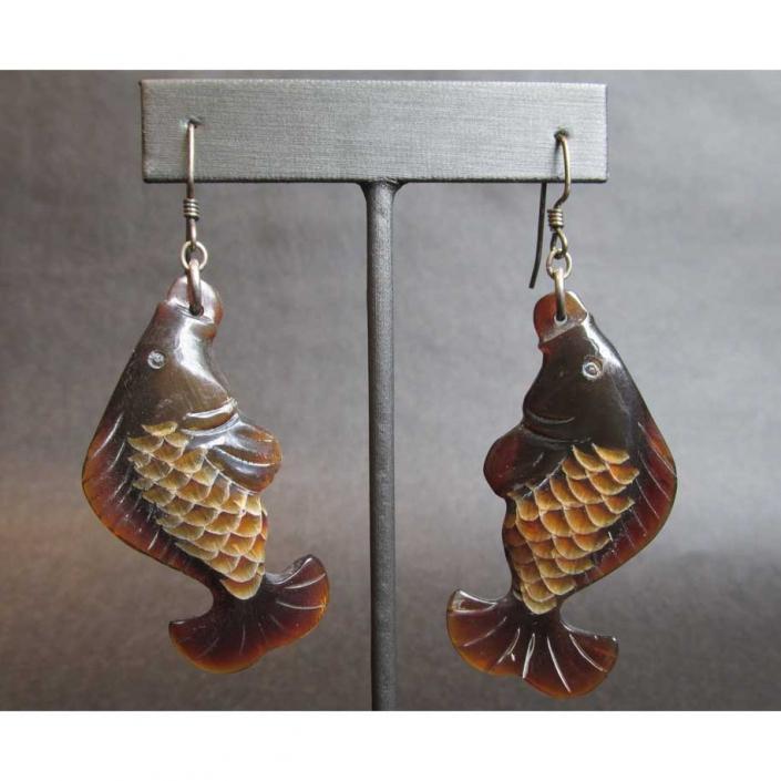 Horn-Fish-Earring
